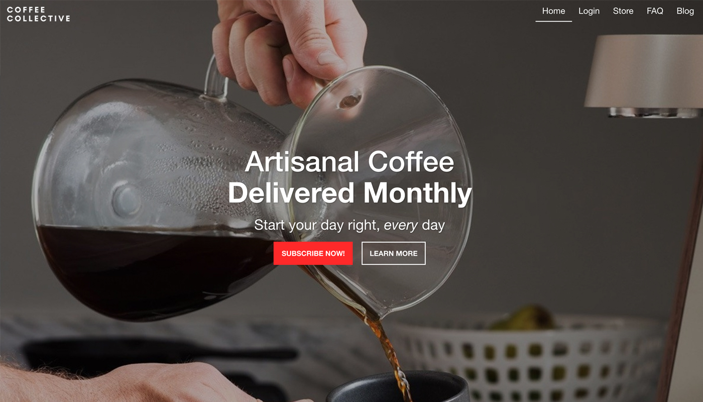 Espresso - Subscription Box Website Template