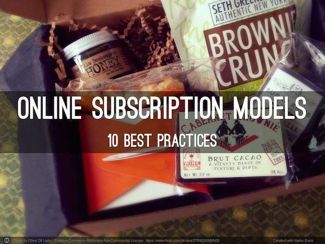 10 Best Practises For Online Subscription Models