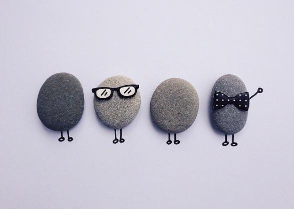funny pebbles