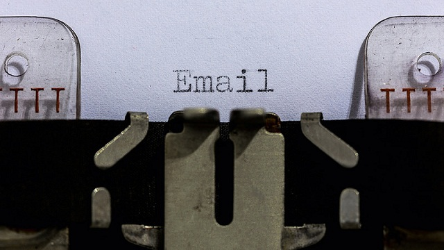 typing emails