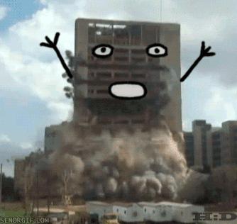 building falling gif