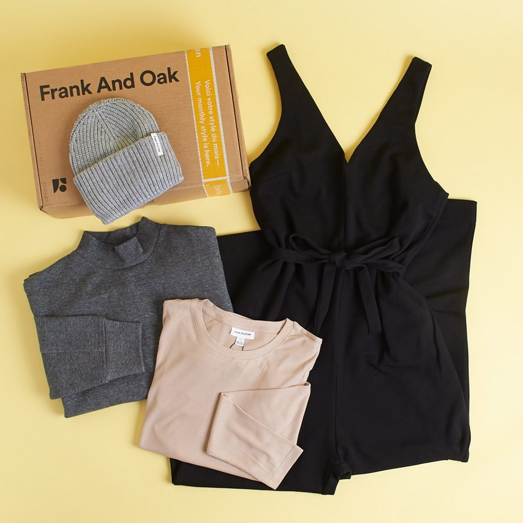 Frank and Oak Style - subscription boxes for women clothing