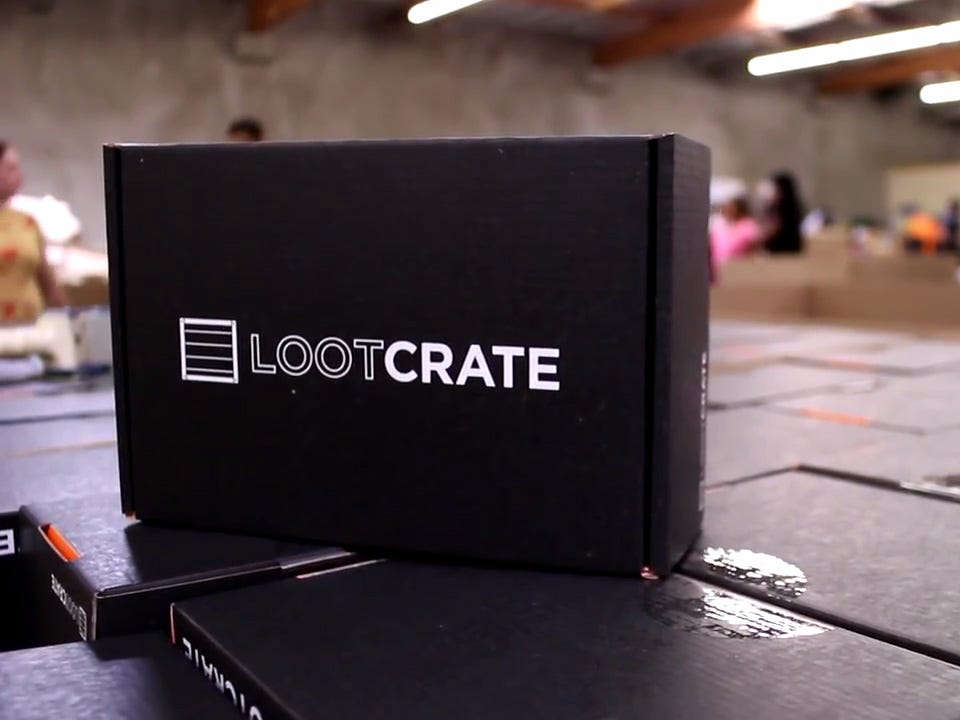 Subscription boxes for men - Lootcrate